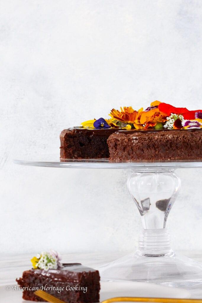 This Hazelnut flourless chocolate cake is rich and chocolatey
