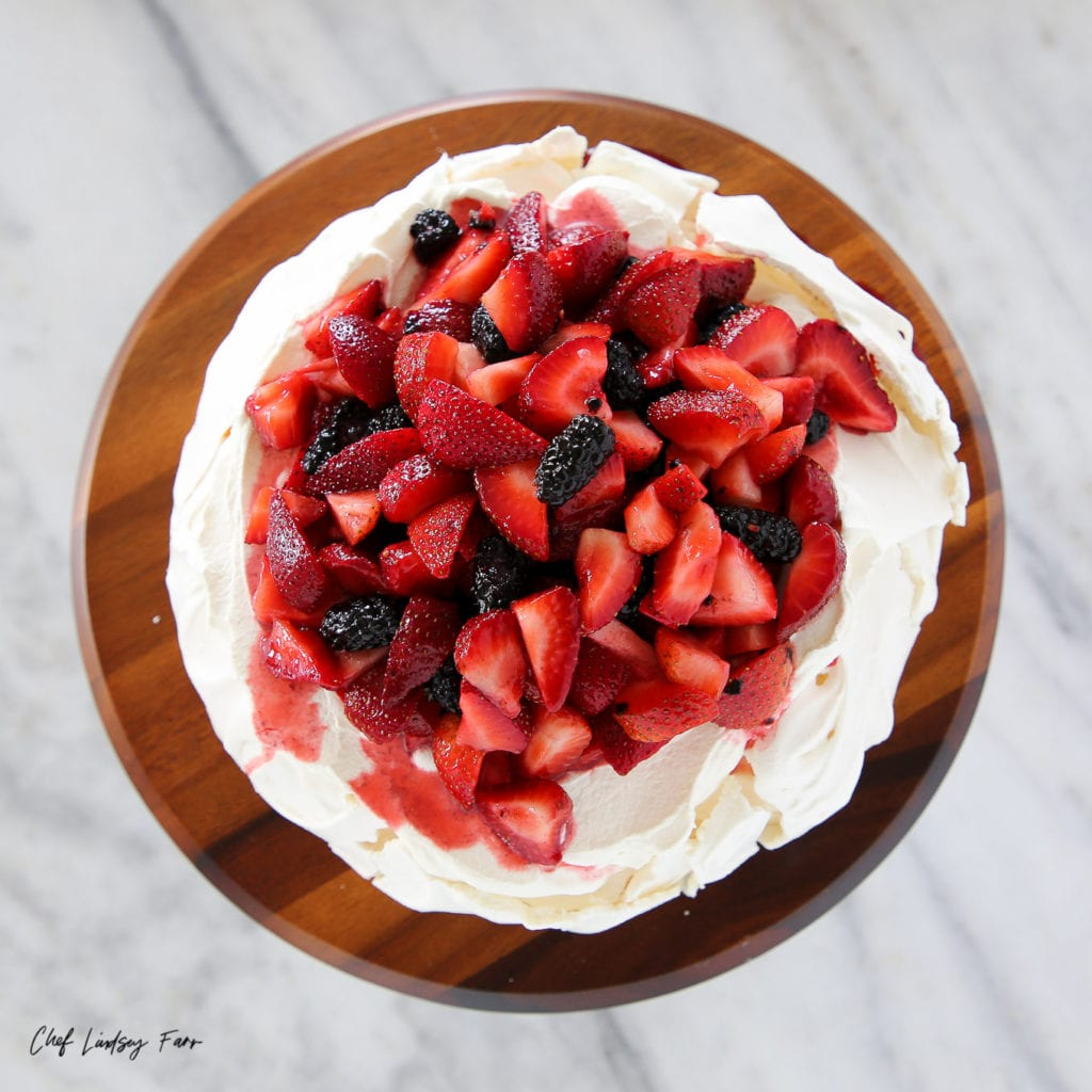 Lemon Berry Pavlova Cake