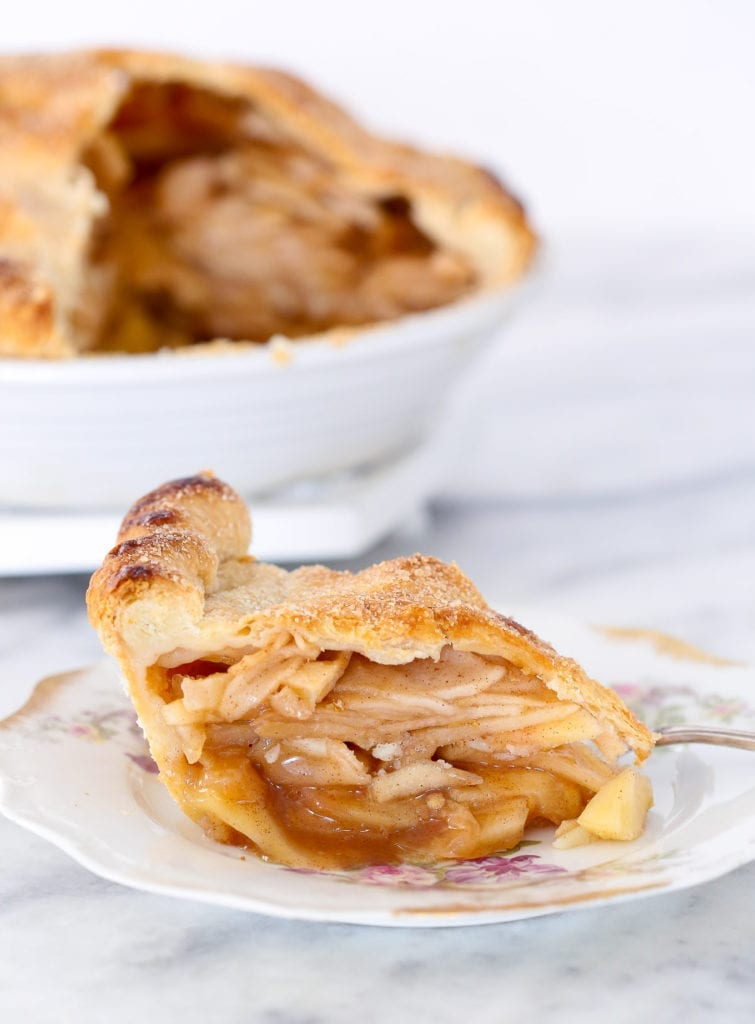 This Cinnamon Apple Pie has a brown sugar cinnamon apple filling baked to perfection inside a flakey all-butter pie crust!
