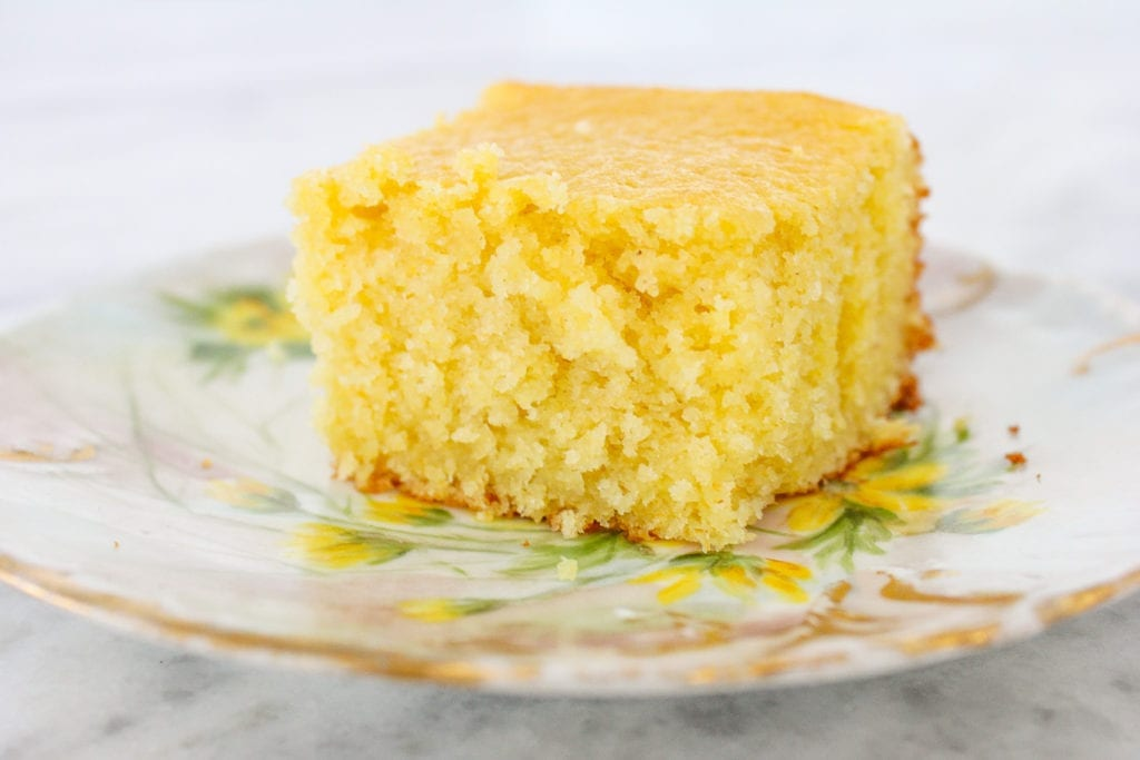 This Sweet Southern Cornbread is a buttery, sweet(er) cornbread with a velvety texture. It is moist, soft and tender; and it comes out perfect every single time.
