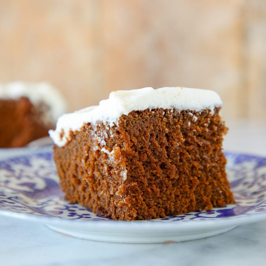 This American Gingerbread Cake is light, fluffy and moist with the perfect amount of spice!